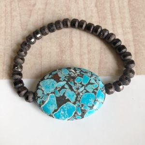 Jewelry - Brown and Turquoise Bracelet
